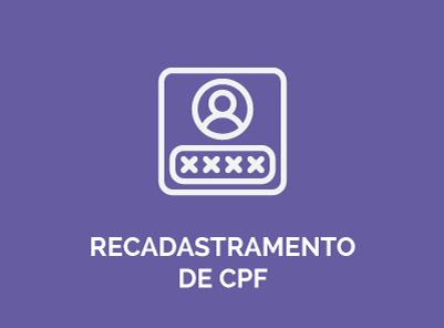 recadastramento de cpf